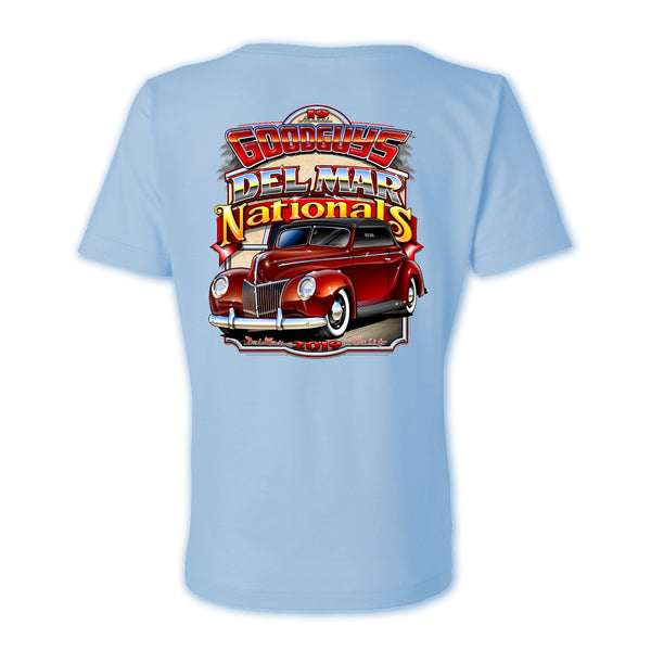2019 DEL MAR LIGHT BLUE LADIES EVENT EXCLUSIVE T-SHIRT-Event Exclusives-Shop Goodguys