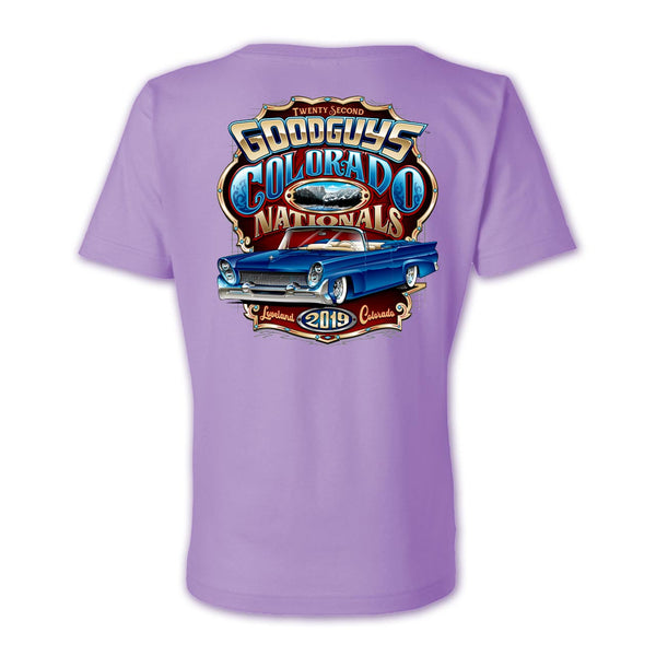 Goodguys 2019 Colorado Nationals Lavender Event Exclusive T-shirt - Back