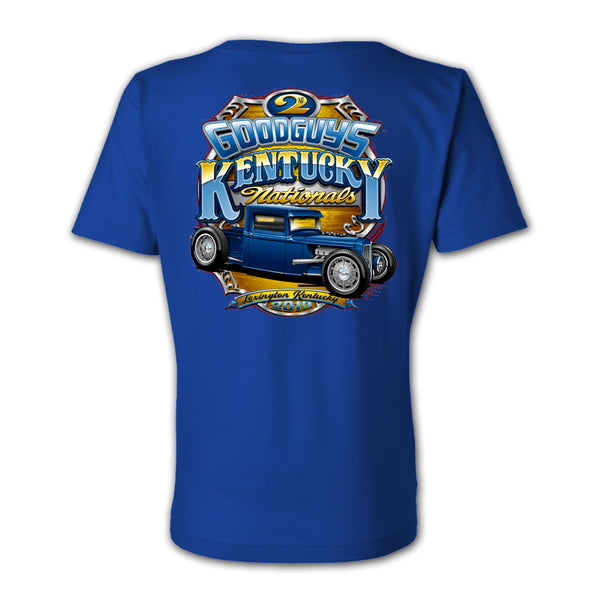 Goodguys 2019 Kentucky Nationals Royal Blue Event Exclusive T-shirt - Back