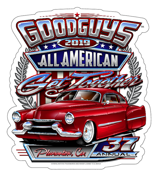 2019 ALL AMERICAN GET-TOGETHER STICKER-Novelties-Shop Goodguys