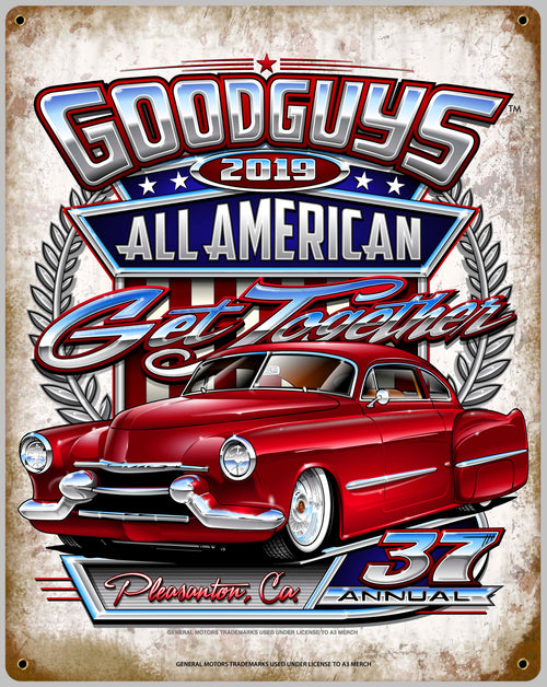2019 ALL AMERICAN GET-TOGETHER TIN WALL ART-Novelties-Shop Goodguys