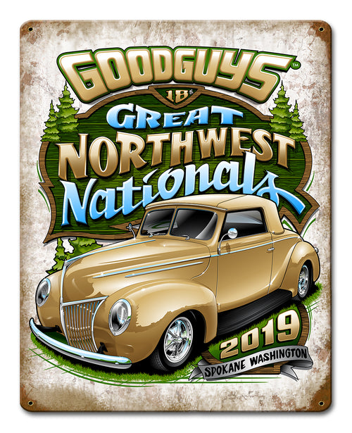 Goodguys 2019 Great Northwest Nationals Tin Wall Art