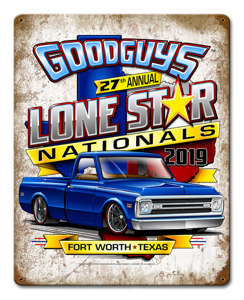 Goodguys 2019 Fall Lone Star Nationals  Event Exclusive Tin Sign