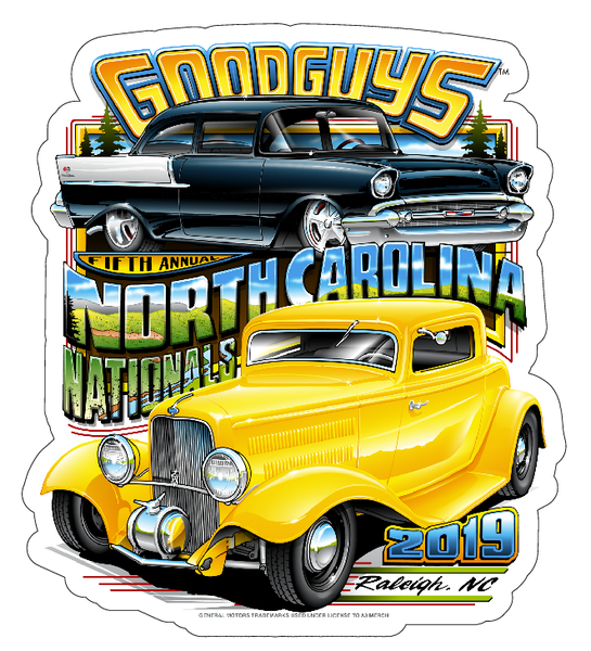 2019 NORTH CAROLINA NATIONALS STICKER-Novelties-Shop Goodguys