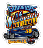 2019 NASHVILLE NATIONALS STICKER-Novelties-Shop Goodguys