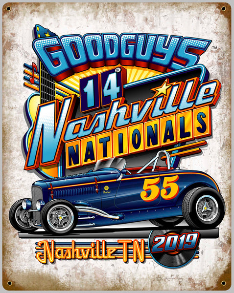 2019 NASHVILLE NATIONALS TIN WALL ART-Novelties-Shop Goodguys