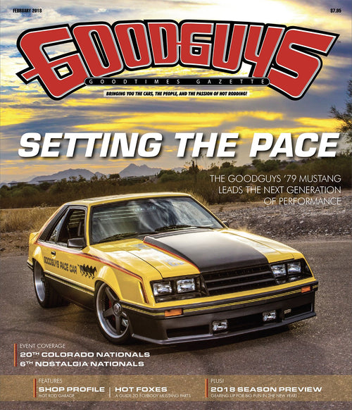 2018 february Goodguys goodtimes gazette - front