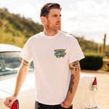 Goodguys mens 2019 north carolina nationals white event exclusive t-shirt front - lifestyle
