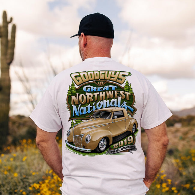Goodguys 2019 Great Northwest Nationals White Event Exclusive T-Shirt - Lifestyle - Back