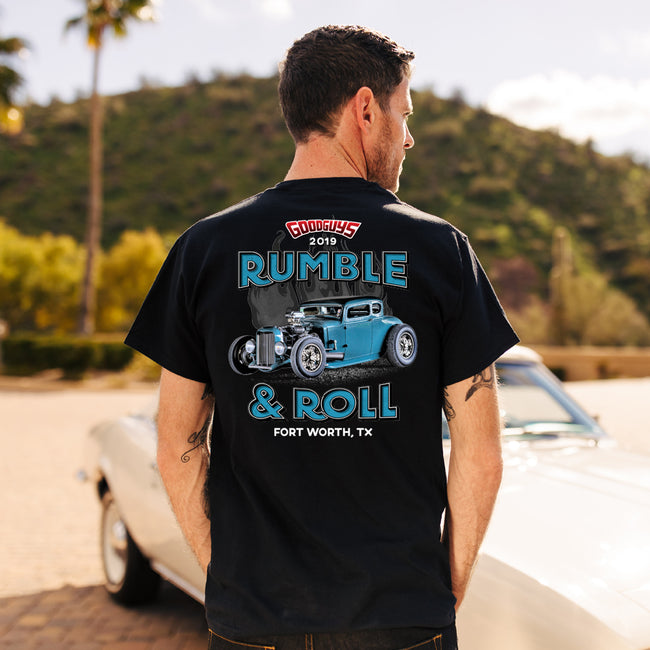 Goodguys 2019 Fall Lone Star Nationals Rumble and Roll Black Event Exclusive T-shirt - Back