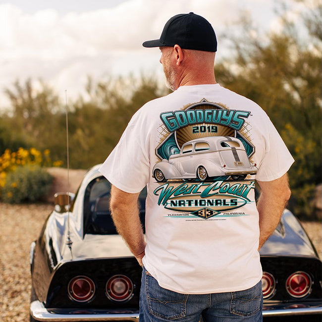 Goodguys 2019 West Coast Nationals White Event Exclusive T-Shirt - Lifestyle - Back