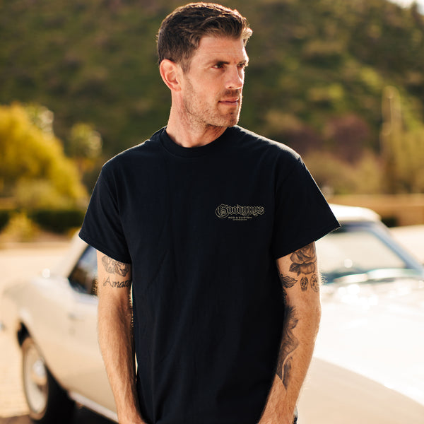 Goodguys Mens Lowrider Black Tee - Front - Lifestyle