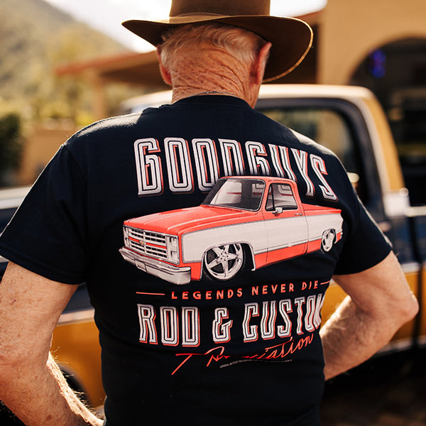 Goodguys Mens C 10 Black Tee - Back - Lifestyle