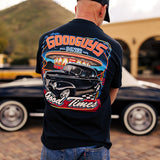 Goodguys No Bad Days Black Tee - Front -Lifestyle