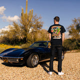 Goodguys Mens Truck Rust Monster Black Tee - Front - Lifestyle