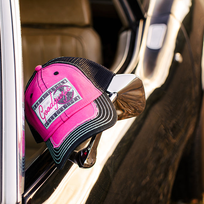 PINK REVVED UP SNAPBACK HAT-Women's Hats-Shop Goodguys