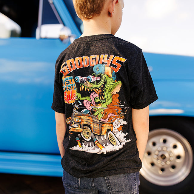 Goodguys youth truck rust monster tee shirt front