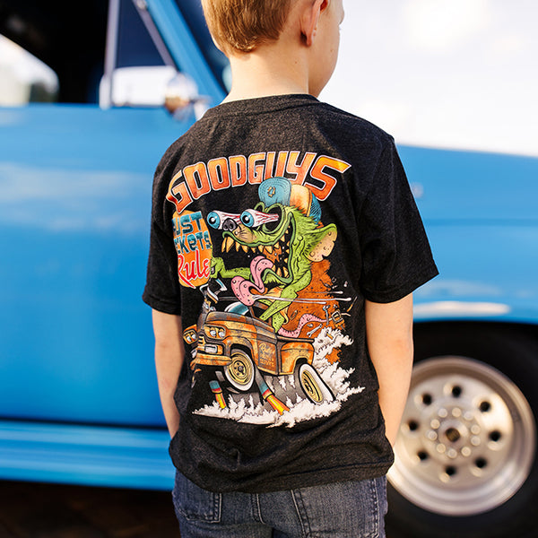 TRUCK RUST MONSTER T-SHIRT-Youth Tees-Shop Goodguys