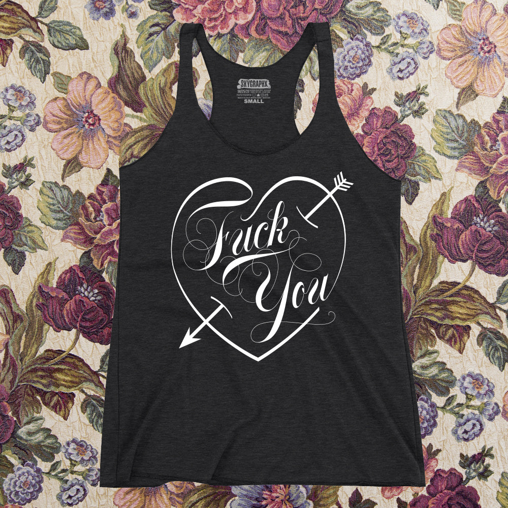 ab446a1227923 Fuck You Women s Racerback Tank. Double click for enlarge