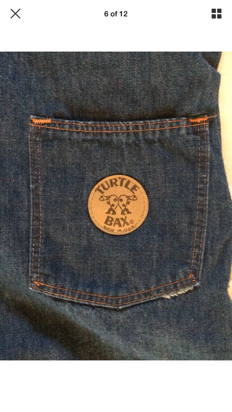 1970's Turtle Bax Denim Overall Hot Pants