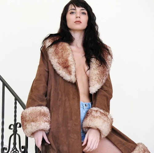 1970's Styled By Scully Penny Lane Faux Fur Coat