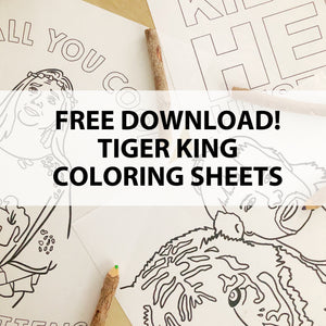 Free Download! - Tiger King Coloring Sheets