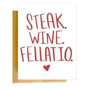 Steak Wine Fellatio