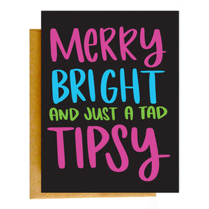 Tipsy Christmas Card