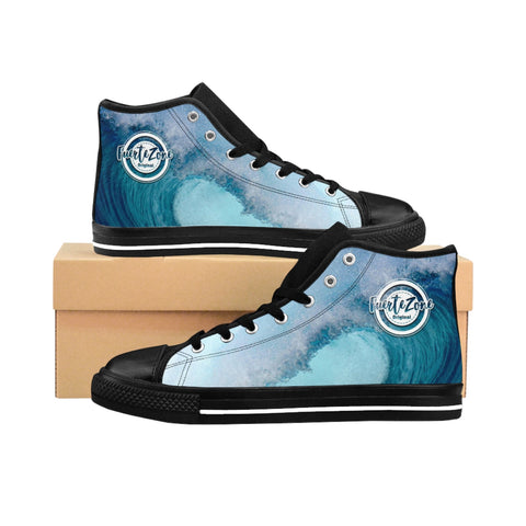 Herren High-top Canvas Sneaker - Blue Wave
