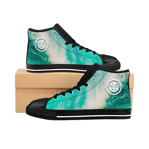 Herren High-top Canvas Sneaker - Turquoise Ocean