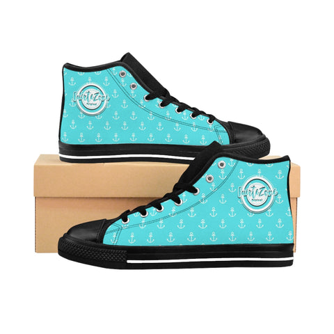 Damen High-top Canvas Sneaker - Anker türkis