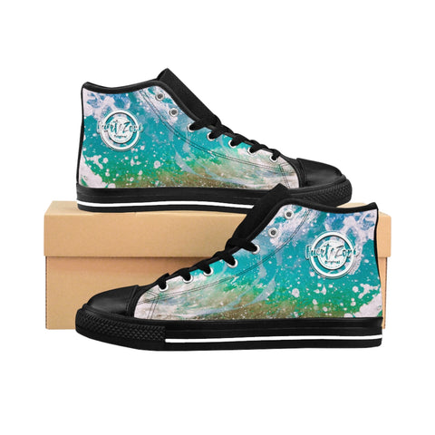 Herren High-top Canvas Sneaker - Splashy Ocean