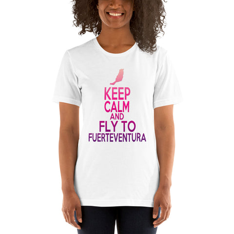 Fuerteventura T-Shirt - Keep Calm And Fly To Fuerteventura/Pink
