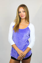 Load image into Gallery viewer, AMAROSO BASEBALL TEE PRINTED LAVENDER