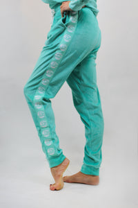 WOMENS ELECTRIC PANTS VELOUR JADE
