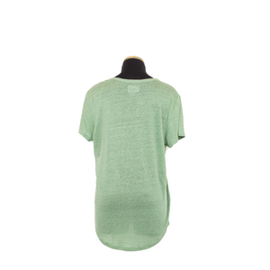 LINNIE V NECK EMERALD