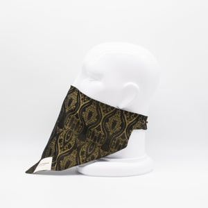 MASKDANNA BLACK & GOLD BROCADE