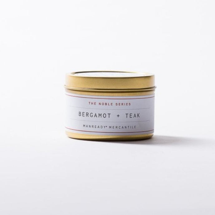TRAVEL SIZE NOBLE SERIES CANDLE - BERGAMOT + TEAK