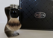 Load image into Gallery viewer, BE SHAVEN : SHAVING BRUSH GIFT SET