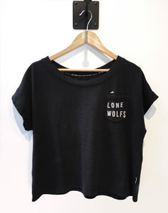 "Lone Wolfs ""Wavy Womens"" Black T-shirt"