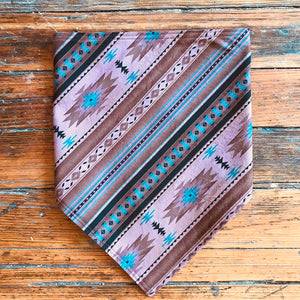 BANDANA BROWN BULL DENIM W/ DESERT PRINT