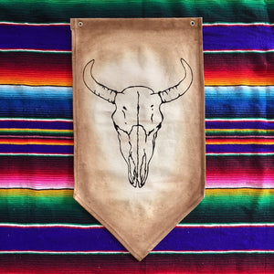 WALL HANGING COW SKULL