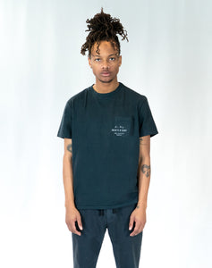 "Lone Wolfs ""Shop"" Pocket Black T-shirt"
