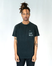 "Load image into Gallery viewer, Lone Wolfs ""wavy"" Black T-shirt"
