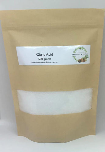 Citric Acid 500g - Live Pure and Simple