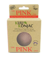 KUU Konjac Sponge with French Pink Clay: For Tired, Devitalised or Sun Exposed Skin - Live Pure and Simple