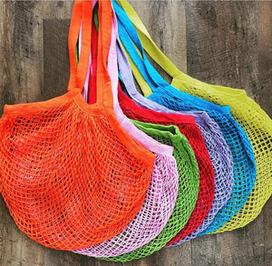 Large Mesh Shopping Bags - Live Pure and Simple
