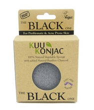 KUU Konjac Sponge with Bamboo Charcoal : Dry, Acne prone and Problematic Skin - Live Pure and Simple