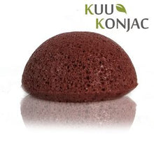 KUU Konjac Sponge with French Red Clay : Dry, Sensitive and/or Mature Skin - Live Pure and Simple