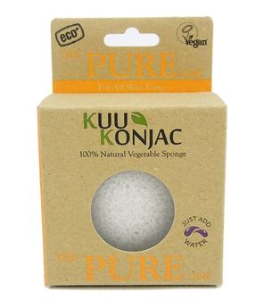 Kuu Konkaj Pure Natural Fibre Face Cleansing & Bath Sponge - Live Pure and Simple